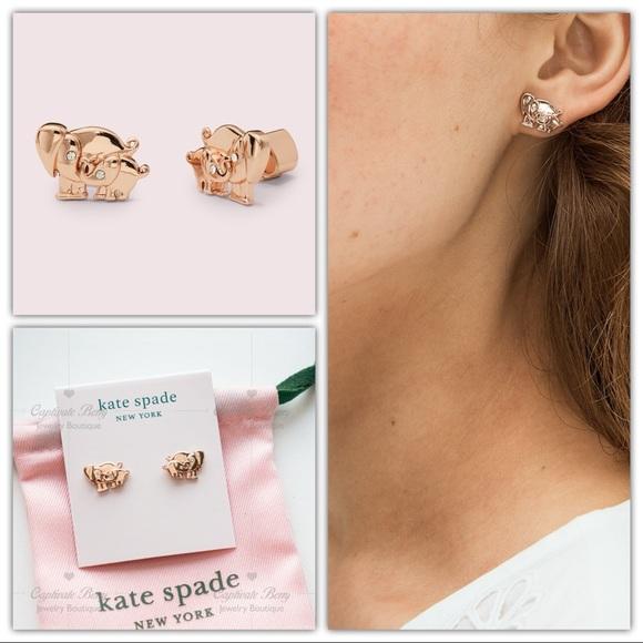 Kate Spade Mom Knows Best Elephant Studs Earrings